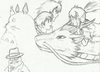Tribute Hayao Miyazaki by Lime-Sun