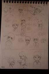 Toki and Keilan rough comic penciled by Keilanify