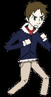 A really bad Visual novel test character by Keilanify