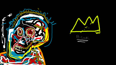 Jean Michel Basquiat style person by cloneux1