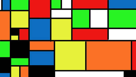 Piet Mondrian Inspired Art by cloneux1