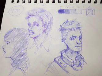 Random sketches  by cloneux1