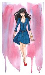 girl in blue by Ombre-de-cristal