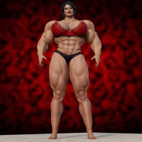 Just Margareth in her muscular glory by Kycolv08