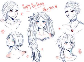 HeadSketch : Happy Birthday Chu-chan by MllxYume