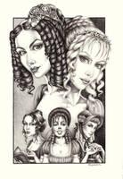 Pride and Prejudice - Bennet girls by vvveverka