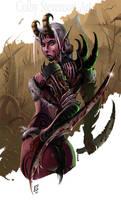 Demoness Warrior by ColbyStevenson