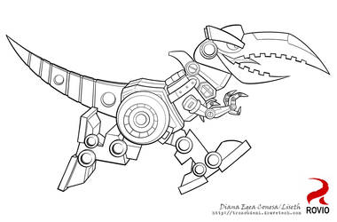 Angry birds Transformers Grimlock by Liseth