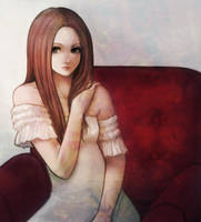 girlhood portrait by kjng