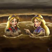 Zelda and her doppelganger by kimmipen