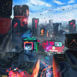 Cyber City by SamTheConceptArtist