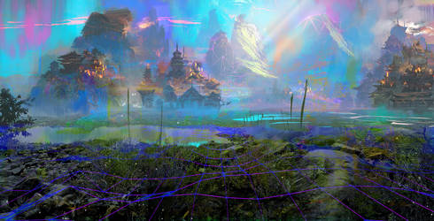 Mystic Landscape by SamTheConceptArtist