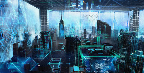 Dystopian New York by SamTheConceptArtist
