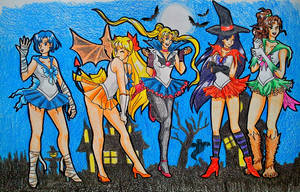 All the soldiers celebrating Halloween by Niisai