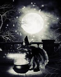 Little witch BW by SerendipityDesT