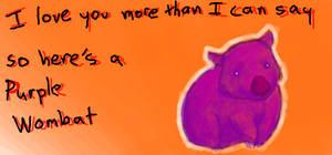 Purple Wombat by maxwell-heza