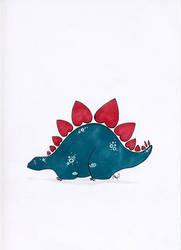 Pectustegosaurus by maxwell-heza