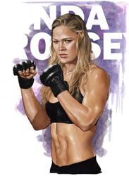 Ronda Rousey by BrandonArseneault