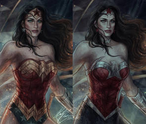 Wonder Woman Closeup by jasric
