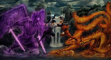 Naruto v Sasuke by jasric