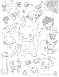 Doodle dump of DEWM by Peeka13