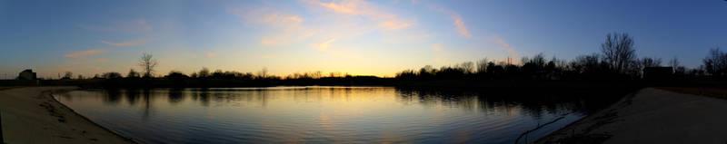 Sunset Lake Panorama by Nattgew