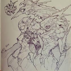 Mechanical killers concept  by bokuman