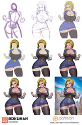 Step by step android 18 by bokuman