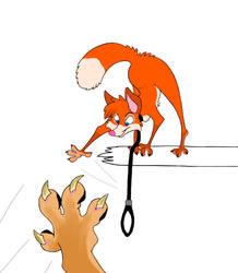 teasing captivity lioness by LittleFoxPrince