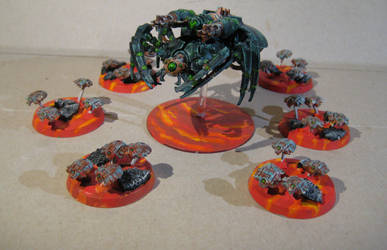 Necrons Canoptek Spyder and Scarab Swarms by MoritzNina