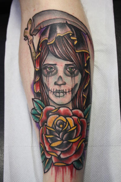 Day Of The Dead Woman Tattoo By Stroder On Deviantart