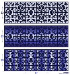 Scheme - 'Pixelated Snowflakes' by aka-Selva