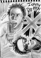 Johnny Rotten by drawforever41