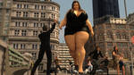 BBW giantess in the city by Galiagan