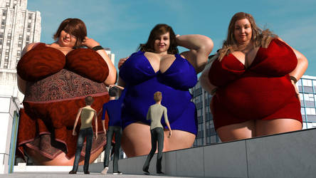 BBW giantess in the city 02 by Galiagan
