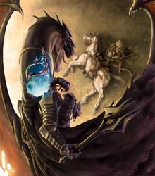 Eowyn and the Nazgul by jorgecarrero