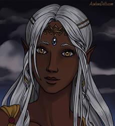 Merka, using Elven-Portrait-by-AzaleasDolls by YurixTheWanderer