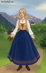 Laurinya outside Myst by YurixTheWanderer