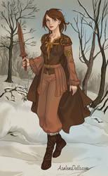 Kaina at Frostreach by YurixTheWanderer