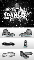 You're the Danger Sneakers by j3concepts