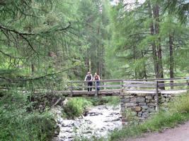 Like a bridge over glacial waters by LaurenKitsune