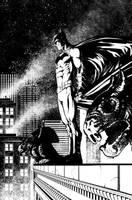 Batman over Gotham by davidmarquez