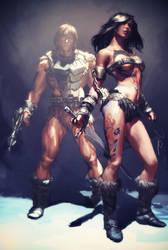 Tattoo-Da and Wun-Dar by AldgerRelpa