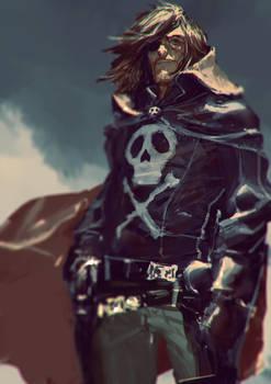 Captain Harlock / Albator Fan art by AldgerRelpa