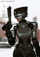 Soviet RoboCop Girl by AldgerRelpa