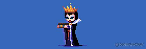 242/365  pixel art : Snow White Queen by igorsandman