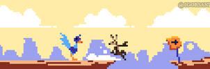 273/365 pixel art : Coyote and The Road Runner by igorsandman