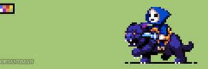 329/365 pixel art : Baby Skeletor and Baby Panthor by igorsandman
