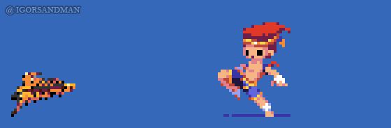 359/365 pixel art : Young Adon - Street Fighter by igorsandman