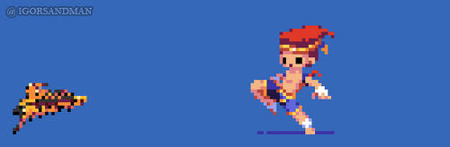 359/365 pixel art : Young Adon - Street Fighter by igorsandman
